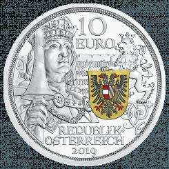 Silbermünze, Ritterlichkeit, polierte Platte