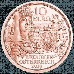 10 Euro Kupfermünze Ritterlichkeit Vorderseite