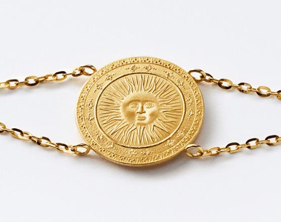 Motiv Sonne in Gold