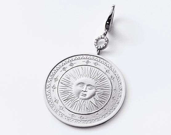 Motiv Sonne in Silber