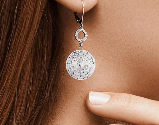 Wachgeküsst Ohrringe in Silber