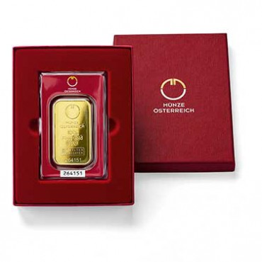 Verpackung Goldbarren, Kinebarren Teaser
