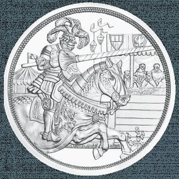 10 Euro Silbermünze Ritterlichkeit Rückseite