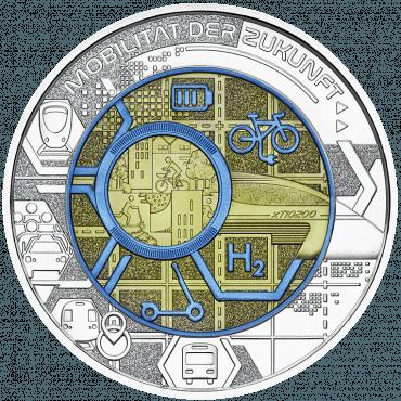 Silber Niob Münze Mobilität der Zukunft