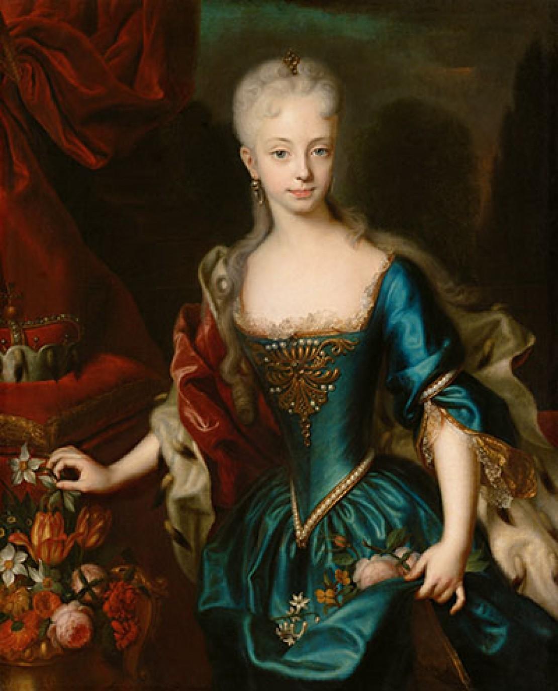 Maria Theresia im Alter von elf Jahre