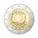 2-Euro-Sondermünze Europaflagge
