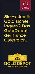 GoldDepot der Münze Österreich