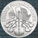 Wiener Philharmoniker Platin 1/25 Unze Rückseite
