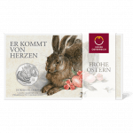 5-Euro-Silbermünze Dürers Feldhase im Blister