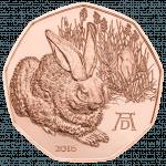 5-Euro-Münze Dürers Feldhase 2016