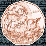 5 Euro Osterlamm Kupfer, Vorderseite