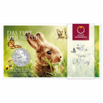 5 Euro Silbermünze Frühlingserwachen im Blister