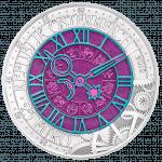 Silber-Niob-Münze Die Zeit Avers