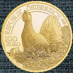 Goldmünze Auerhahn
