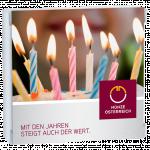 Geschenkverpackung Geburtstagskerze