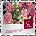 Geschenkverpackung Rosen