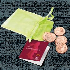 5 Euro Kupfermünzen Set Ostern mit 6 Kupfermünzen mit Motiven von 2016-2021
