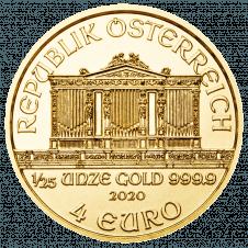Wiener Philharmoniker Gold 1/25 Unze