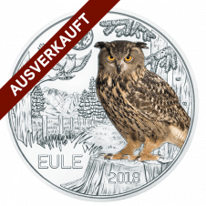 3 Euro Tier Taler, die Eule