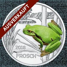 3-Euro-Tier-Taler, der Frosch
