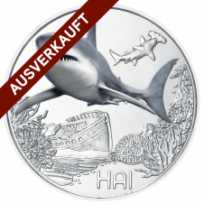 3-Euro-Tier-Taler, der Hai ausverkauft