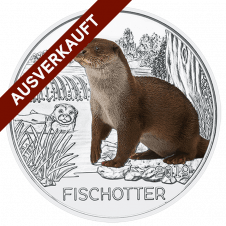 3-Euro-Tier-Taler, der Fischotter ausverkauft