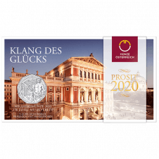 5 Euro Neujahrsmünze 2020 Silber Blister
