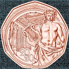 5 Euro Neujahrsmünze 2020 Kupfer Rückseite