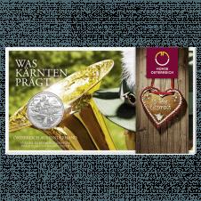 10-Euro-Silbermünze 2012 Kärnten Blister