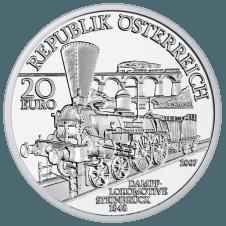 20-Euro-Silbermünze Südbahn Avers