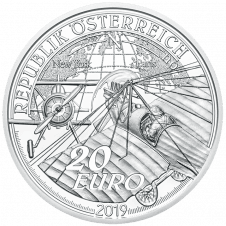 20 Euro Silbermünze Ära des Motorfluges