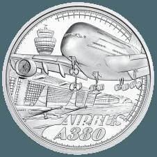 Silbermünze Reisen über den Wolken