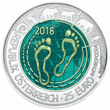 Silbe Niob Münze 2018 Anthropozän