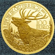 100-Euro Goldmünze Der Rothirsch