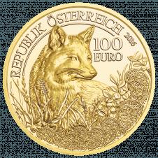 Goldmünze Der Fuchs