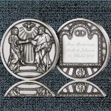 Medaille zur Hochzeit mit Gravur