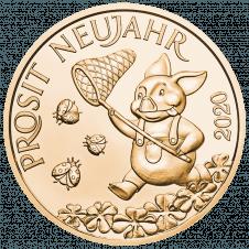 Glücksjeton 2020 in Bronze