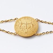 Gold-Armkette Kreuz