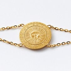 Gold-Armkette Sonne