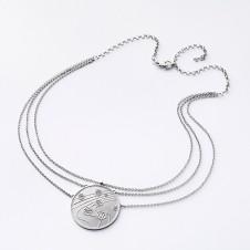 Mittelteil-Collier Silber Kugeltanz