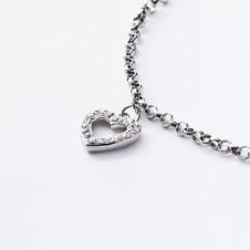 Silbercollier mit Herzen