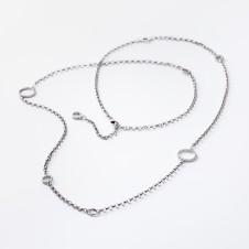 Silbercollier mit Ringen
