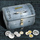 Schatzkiste für Münzen geschlossen