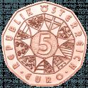 5 Euro Osterlamm Kupfer, Rückseite