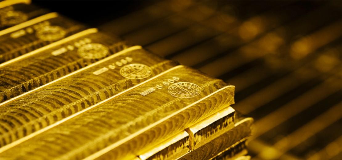 Goldbarrenstapel