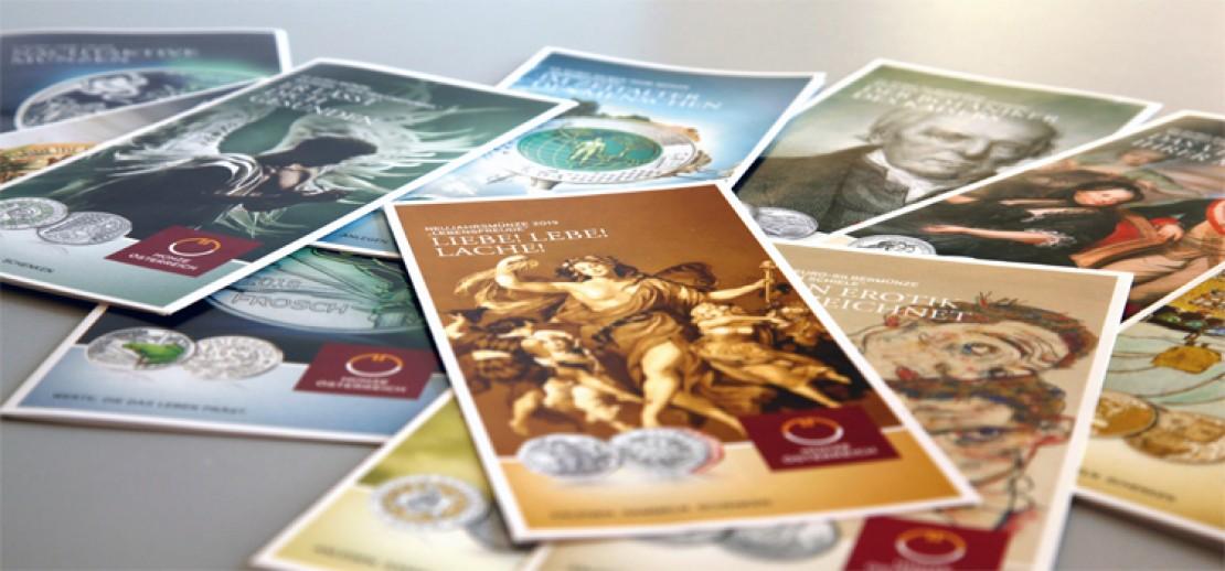 Produktfolder der Münze Österreich