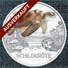 3-Euro Muenze Tiert-Taler Schildkröte 2019
