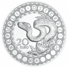 Silbermünze Australien - Schöpferkraft der Schlange
