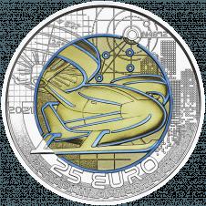 Silber Niob Münze - Mobilität der Zukunft