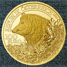 Goldmünze Wildschwein
